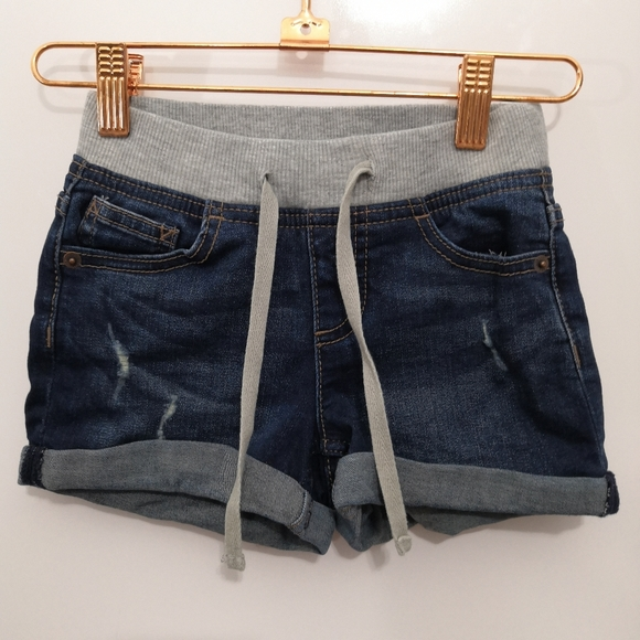 Justice Other - Justice Denim Jean Shorts Drawstring Wash Distress